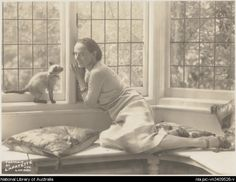 Portrait of Anna Pavlova with her Siamese cat in her London home