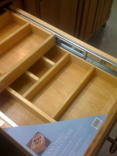 Make the most of your drawers - 2 teir sliding drawers -want to do for caravan kitchen drawer