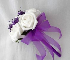 artifical bridesmaid bouquets | ARTIFICIAL WEDDING FLOWERS - 1 BRIDES BOUQUET, 2 BRIDESMAIDS, 1 ...