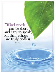 Kind Words - Inspirational Quote Poster