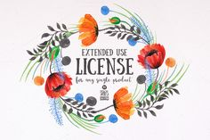 Extended Use License by Stella's Graphic Supply on Creative Market