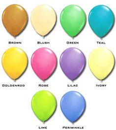"""Qualatex 16"""" Fashion Colours (50/pkg) 10 Colour Options Qualatex Balloons, Fashion Colours, Lilac, Blush, Teal, Green, Color, Rouge, Colour"""
