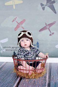 3ft x 3ft Airplane Theme Photo Backdrop for Kids Photo Shoots - Vinyl Photography Back Drop - Item 1437