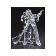 Roman Icy Crystal Santa's Checking His List Christmas Table Top Figure, Clear White Witch Narnia, Christmas Tabletop, Santa Face, Crystal Collection, Santa Christmas, Roman, In This Moment, Crystals, Holiday