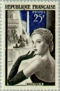 Lady on place de la Concord. 1955