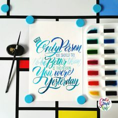 Testing the Ecoline and some inks #calligrafikas #brushlettering #watercolor Paper: Canson 200gsm Paint: Ecoline & Dr. PH Martins india inks Brush: Silver Brush Black Velvet round no 2