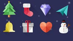 Christmas icons for free download :) on Behance