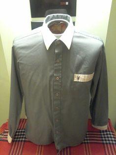 Vintage Playboy Unisex Dress Shirt (Small-Medium) by VintageMixWest on Etsy