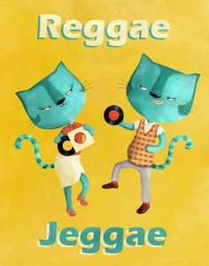 For all Blue Cat Reggae fans. Two dancing smart dressed cats:) #skinhead #cat #reggae