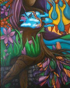artist Elizabeth Cosby   acrylic on canvas  size 30x40  title: New Beginnings  2012