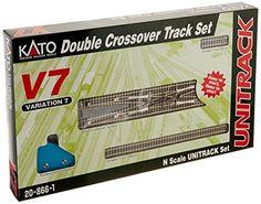 Kato USA Model Train Products V7 UNITRACK Double Crossover Track Set