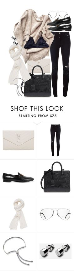 """""""Untitled #20654"""" by florencia95 ❤ liked on Polyvore featuring Yves Saint Laurent, Closed, Gucci, Stella T., Ray-Ban and Monica Vinader"""
