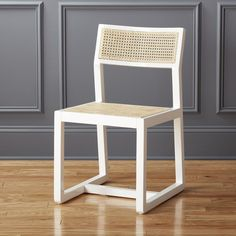 White cane dining ch