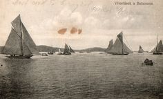 Lake Balaton, Hungary. 1918 Belle Epoch, Gilded Age, Old Postcards, New Adventures, Old Pictures, Hungary, Austria, Sailing, Exotic