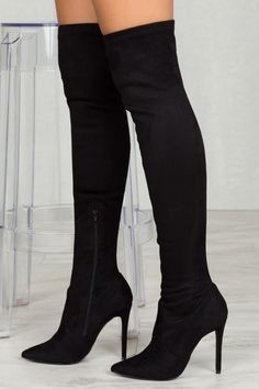 96c9a287a37 Lonnie Over The Knee Boots (Black)- FINAL SALE