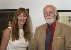 Paul Elmirst, Chair Cooper Art Collection and Diane Terris CEO BMBC celebrate the launch of Cooper 100 Appeal