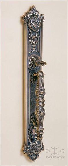 Aurelia thumblatch | antique bronze | Custom Door Hardware handcafted by master artisans. Old world beauty. http://www.balticacustomhardware.com