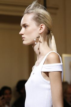 Mono-earring with drawstring details at Viktor & Rolf SS15