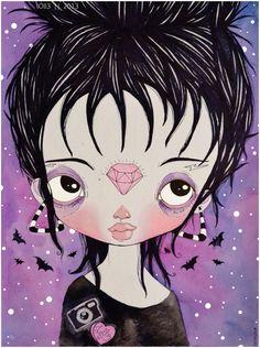 Ilustraciones gótico pastel