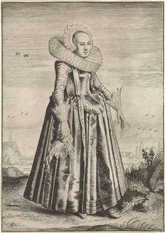 Habitus et cultus Matronarum Nobilu et Rusticarum (Kleding en manieren van adellijke en vrouwen uit de provincie), Dirck Hals, Jacob Matham, 1619 - 1623