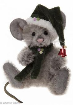 Charlie Bears Sneeze Mouse Keyring / Tree Ornament