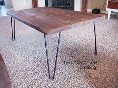Reclaimed Wood Coffee Table with Hairpin Legs – Remodelaholic