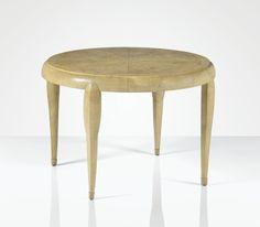 André Groult 1884 - 1967 GUÉRIDON, PIÈCE UNIQUE, 1925 A UNIQUE SHAGREEN AND OAK OCCASIONAL TABLE BY ANDRÉ GROULT, 1925