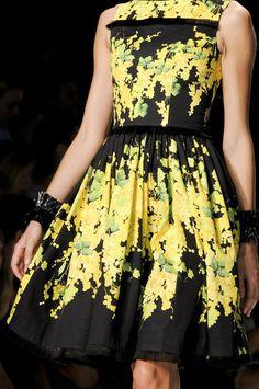 blumarine black floral dress