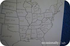 http://usa.mycityportal.net - Occasionally Crafty: Wall Mural- Vinyl United States of America