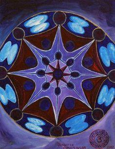 °7th Crown Chakra Mandala by JenniferChristenson