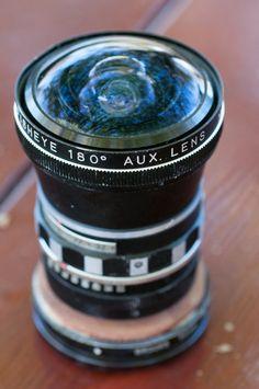SAMIGON FISHEYE 180 Deg. Aux. lens (With homemade 52mm mount)