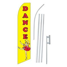 NeoPlex Dance Swooper Flag and Flagpole Set