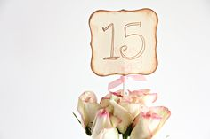 Table number Wedding Table numbers Party Table numbers by Unify, via Etsy. Vintage Wedding Cake Table, Vintage Wedding Flowers, Vintage Wedding Invitations, Vintage Weddings, Romantic Weddings, Gold Wedding, Dream Wedding, Handmade Wedding Favours, Wedding Favors
