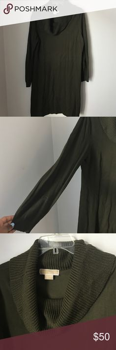 Michael Kors Forest Green Sweater Dress Pre-loved. Size XL. Some signs of wear (snag in back) and piling on right side. Not super noticeable. Could be easily removed. No rips and tears! MICHAEL Michael Kors Dresses