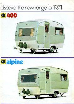 sprite 400 and alpine caravans Vintage Rv, Vintage Caravans, Vintage Trailers, Vintage Campers, Vintage Travel, Retro Caravan, Camper Caravan, Caravan Ideas, Camper Ideas