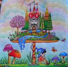 Similar Ideas Enchanted Forest Coloring