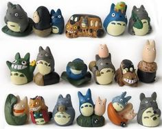 Each party favor has one of these cute figurines to help the acorns grow!  ++++++ My Neighbor Totoro Mini Figure Set Of 17 JapanCos