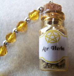 Mini Herbal Elemenal Hanging Bottles by KazanCauldron on Etsy