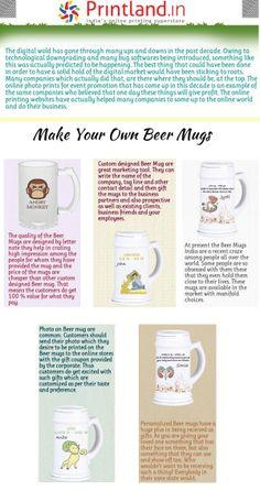 Personalized Beer Mugs, Buy Beer, Online Print Shop, Ups And Downs, Kolkata, Design Templates, Pune, Chennai, Custom Photo