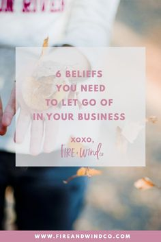 Wonderful post on the importance of believing in yourself and in your business.