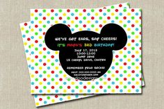 Mickey Mouse Clubhouse Inspired Birthday Invitation
