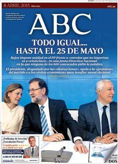 Diario ABC de 8 Abril 2015 y recordamos que pueden visualizar cada día los principales titulares en http://www.youtube.com/vendopor