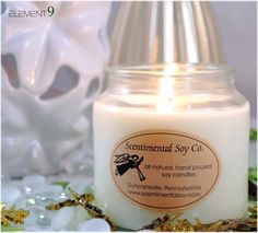 18 oz Apothocary-Premium, natural soy candles from Scentimental Soy Company. Hand poured in the heart of Pennsylvania!
