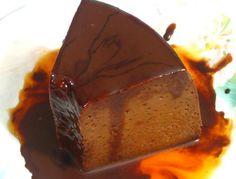Flan de chocolate