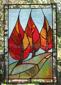 This listing is for a PDF pattern ONLY of a stained glass panel. It is intended for stained glass makers who want to reproduce my original design Flaming September that was listed here: https://www.etsy.com/transaction/52083778 This design is 10 by 16 inches in size not including the beveled border. This pattern is for PERSONAL USE ONLY. All my works are my original designs and I hold copyright to all the patterns. You will receive a full-scale PDF file that prints on 2 pages on a regular…