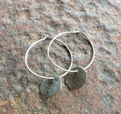 Hand Hammered Sterling Silver Wire Hoops on Etsy, $32.00