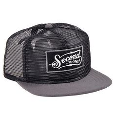 The Hundreds Second Sons Mesh All-Over Snapback Hat Black Adjustable Headwear