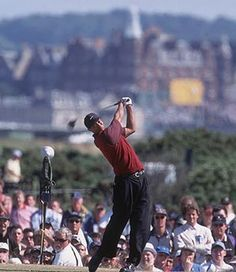 Attend a major sporting event. Check! Watched Tiger Woods win the British Open at St Andrews in Edingburgh, Scotland in 2000.
