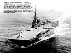 Us Navy Ships in Korea the Essex in 1952 | aug 23 1951 uss essex cv 9 went into combat in korea she was the first ...