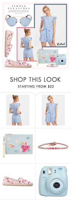 """""""Simple Pleasures"""" by flipars ❤ liked on Polyvore featuring Sophia Webster, BROOKE GREGSON, RED Valentino, Fujifilm and Christian Dior"""
